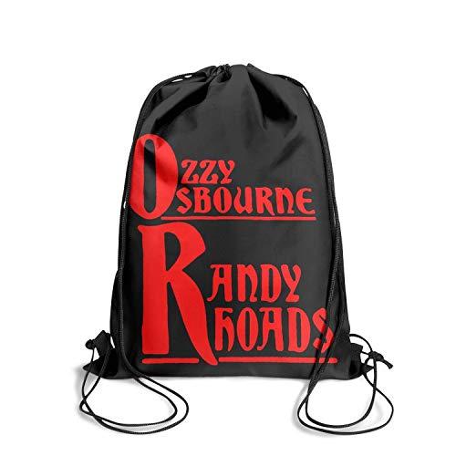 Rhoads Strings Randy - SINGKING Drawstring Backpack Polyester Personalized Ozzy-Osbourne-Randy-Rhoads-Red- Drawstring Bags for Women & Men