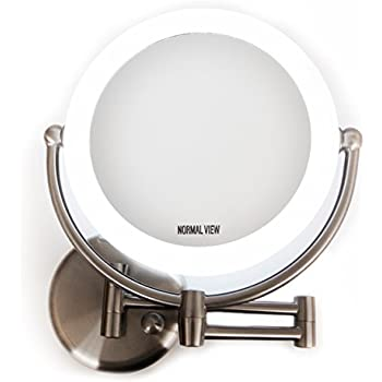 Amazon Com Wall Mount Led Lighted Makeup Mirror Ac