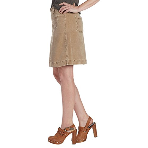 Corduroy Gonna Mccamey Zip Refined Donna Jeans In Toffee Front Skirt Jag zw781Tqy
