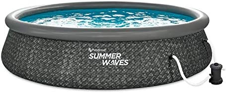 Summer Waves 14 Foot x 3 Foot Quick Set Ring Above Ground Outdoor Swimming Pool