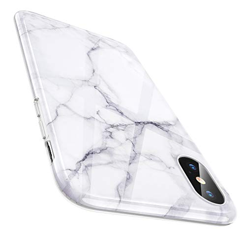 ESR Marble Slim Soft Case for iPhone X, Flexible TPU Marble Pattern Cover for Apple iPhone 5.8 inch (2017 Release only)(White Sierra)