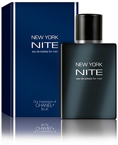 - New York Nite - Eau De Toilette for Men - Impression of Chanel Blue, 3.3 fl oz