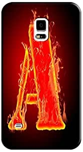 Samsung Accessories 26 Fire Letter Character Cute Design Special For Samsung Galaxy S5 i9600 No.1