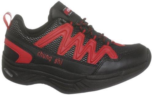 Shi Chung Walkingschuhe Schwarz MAGIC Comfort Step Damen Rot Schwarz 6dRdz