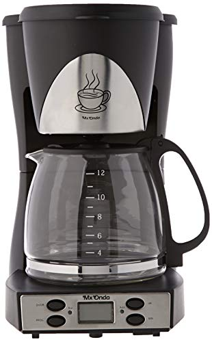 Mx Onda MX-CE2258 Cafetera de Goteo con Temporizador, 1000 W, 1.5 litros, Negro