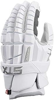 STX Lacrosse Surgeon RZR Gloves, XLarge, White