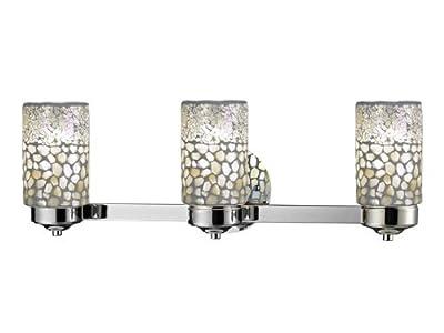 Dale Tiffany TW12468 Alps 3-Light Vanity Lights, Brushed Nickel