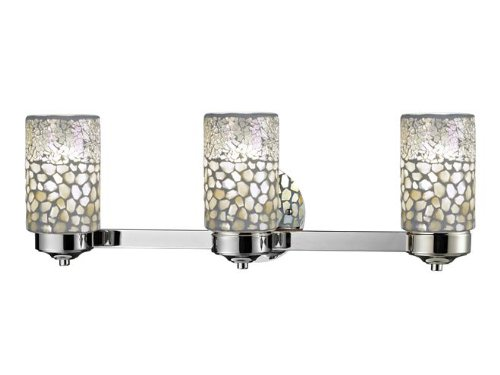 Dale Tiffany TW12468 Alps 3-Light Vanity Lights, Brushed Nickel