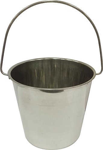 Ethical 13-Quart Stainless Steel Kennel Pail with Handle