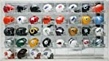 Riddell Pocket Pro Two-Bar Throwback Helmet Set with Display Case from