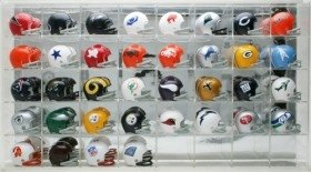 - Riddell Pocket Pro Two-Bar Throwback Helmet Set with Display Case from