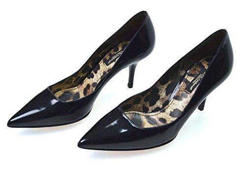 Donna Dolce Nero O Black Pelle Scarpa amp; Lucida C13768 Art Gabbana Decolte Rosso wwxaqZH4p