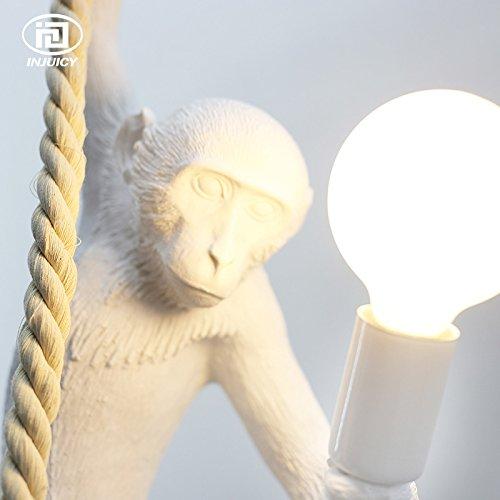 Injuicy Lighting Loft Vintage Resin Hemp Rope Monkey Pendant Lights Fixture Industrial Retro E27 Edison Ceiling Pendant Lamp Single Light for Dining Living Room Children's Bedroom Bar Cafe Gift by IJ INJUICY (Image #5)