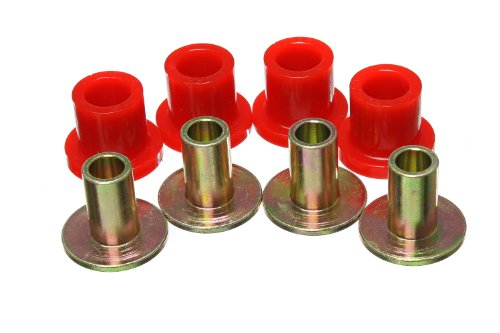 Energy Suspension 8.10106R Rack And Pinion Bushing Set Red Performance Polyurethane Rack And Pinion Bushing Set