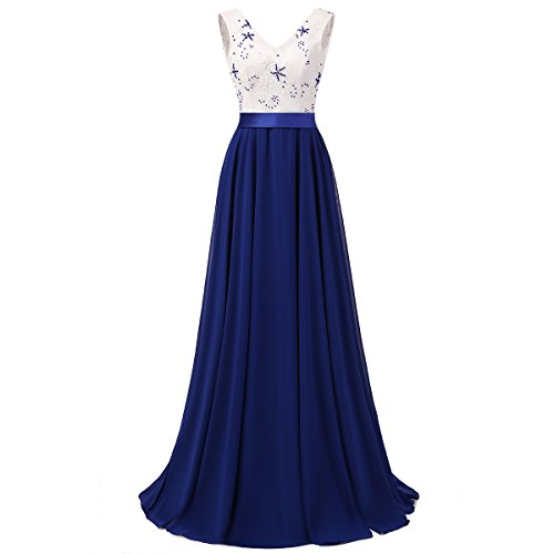 V-Neck-Chiffon-Prom-Gown-Long-Evening-Dresses