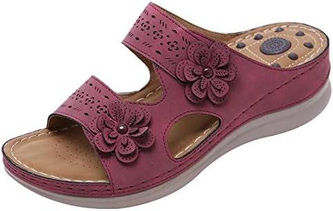 Gelentea Pantoufles orthop/édiques /à bout ouvert pour femme R/étro Antid/érapant Respirant Chaussures d/ét/é