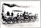 Photo Railroad Erly Steam Locomotive Depot c1855