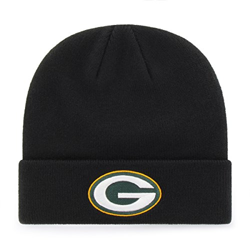OTS NFL Green Bay Packers Raised Cuff Knit Cap, Black, Toddler