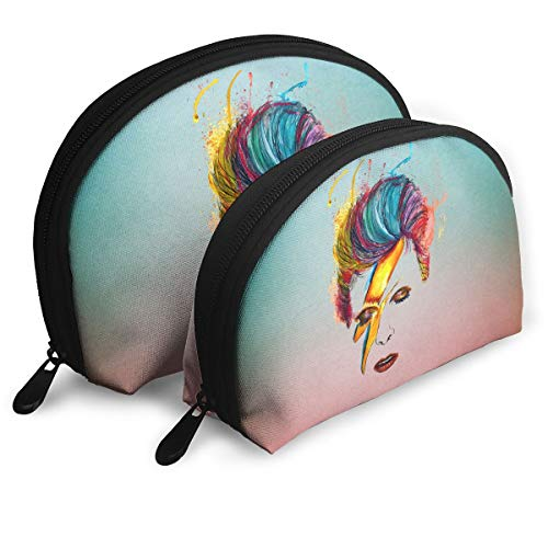 - Gltiosr David Bowie Womens Shell Portable Travel Toiletry Bags Clutch Pouch Cosmetic Pouch Makeup Bag