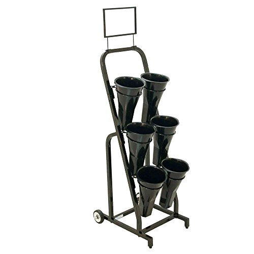 /6-B 59'' H Floral Cart with Sign Frame & Vases Packaged with 6 Floral Vases by Mobile Merchandisers