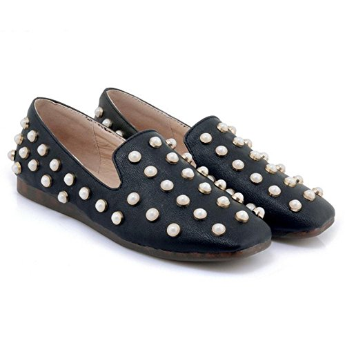 Coolcept Zapatos Moda de Tacon Plano Para Mujer Black