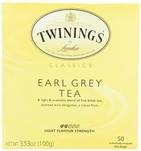Twinings Earl Grey Tea, Tea Bags, 50 Count Boxes (Pack of 6)