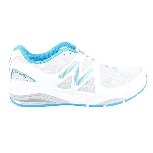 New Balance Women's W1540V2 Running Shoe, White/Blue, 8.5 2A US