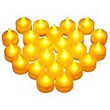 Victsing 24 Pack LED Tea Lights - Warm Yellow Battery Operated flameless Candles Realistic Unscented LED Candles - for Parties,Votives, Tealight Holders, Diwali, Halloween, Christmas Decoration