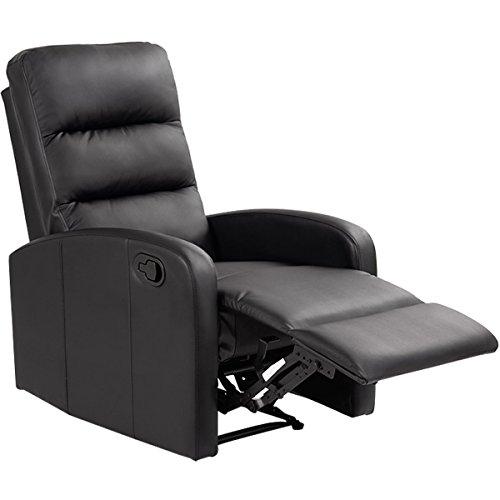 Giantex Massage Recliner Chair Pu Leather Single Sofa