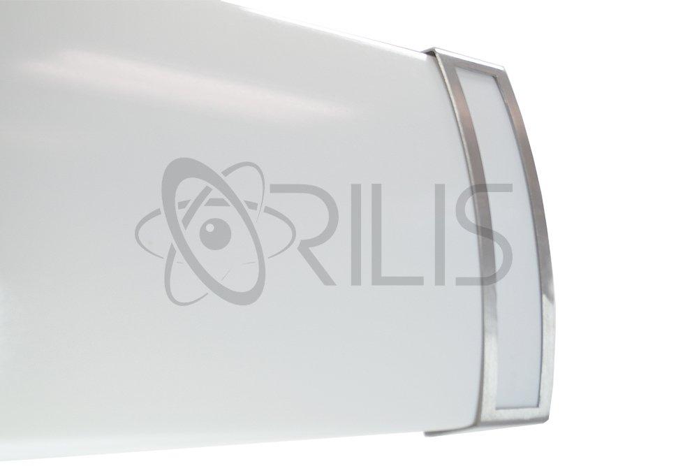 Orilis 48W LED 2-ft. 4-Light Luxury Brushed Nickel Hardwired Ceiling Fixture - (4) 12W LED T8 Tubes Included - 6000 Lumens - 6500K by Orilis (Image #3)