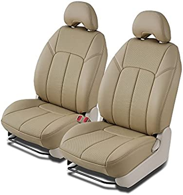 Clazzio 420031tann Tan Leather Front Row Seat Cover for Nissan Versa Base//S Hatchback