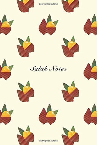"""Download Salak Notes: 6""""x9"""" Notebook Watercolor Texture Design Fruit Pattern Cover. 108 Blank Lined Pages Matte Softcover Note Book Journal pdf"""
