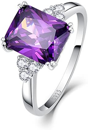 指輪 パープル シルバー925 キュービックジルコニア レディース サイズ:14号