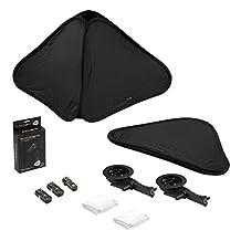 "Fotodiox Foldable Softbox 2x Flash Kit with Remote Triggers for Nikon - 28x28"" - Black - SBX-Foldable-FlshBrckt-28in-2xNikon"