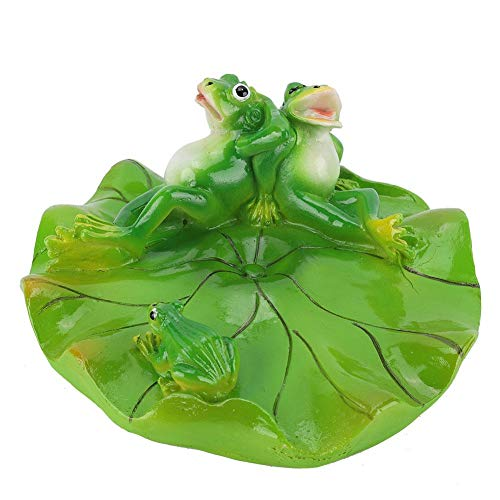 Jeffergarden Animal Model Decoration Ornament Miniature Swimming Pool Pond Floating Frog Animal Bathtub Garden Decor