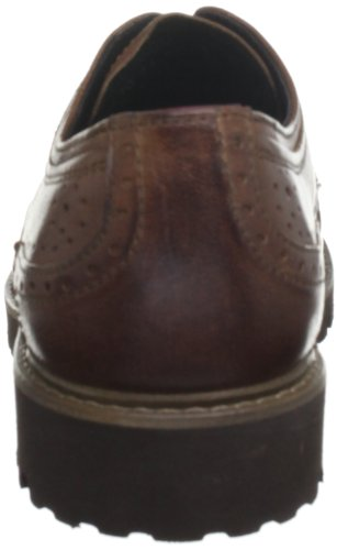 Camel Active Brogues Casual Harvard Maschile Nel Dado Marrone in Pelle Nut