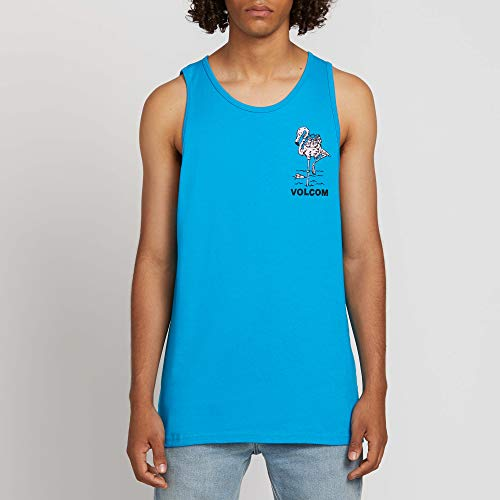 (Volcom Men's Into The Drink Basic Fit Tank Top, Bright Blue, Extra Large)