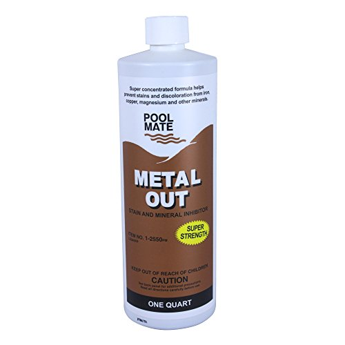 Metal Free Pool Chemical - Pool Mate 1-2550 Mineral Out and Stain Remover for Swimming Pools, 1-Quart