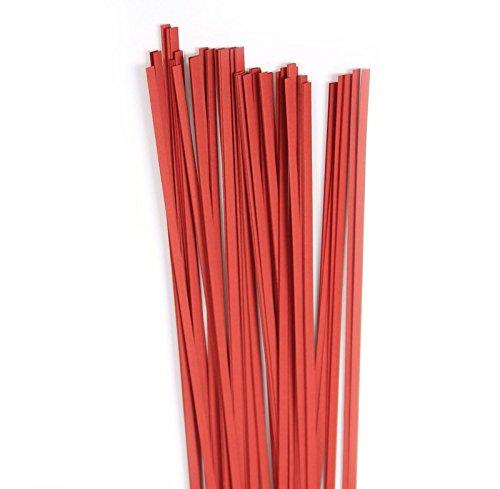 100 Strips 120 g//m2 3x450mm Karen Marie Klip: Quilling Paper Strips Lampone red