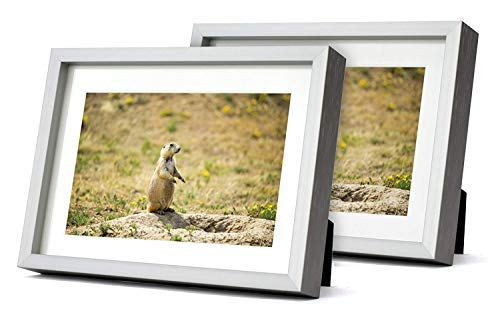 Golden State Art, Brushed Texture Aluminum Picture Frame - Ivory Mat - Wall/Table Display - Real Glass (Silver, 5x7 for… - ATTRACTIVE DESIGN: Shiny Brushed, Aluminum Silver Frames with Ivory Mat. Simple and Modern Look to display your photos or prints. PACKAGE SET INCLUDES: Two 5x7-inch Silver Photo Frames with Real Glass. Each Frame has a Single Mat (Ivory Color, Bevel Cut 4-Ply) - Mat Opening Size: 3.5 x 5.5 inches MADE TO FIT PICTURES: 4x6 with Mat or 5x7 without Mat - picture-frames, bedroom-decor, bedroom - 41bq9WvOn7L -