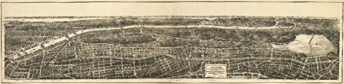 Bronx, New York - Panoramic Map (9x12 Art Print, Wall Decor Travel ()