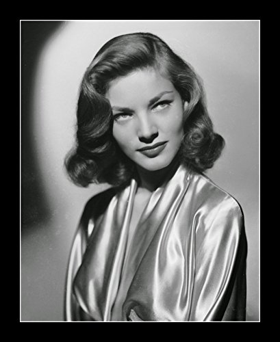 8 x 10 All Wood Framed Photo Lauren Bacall Short 1940s Hairstyle Hollywood Celebrity -
