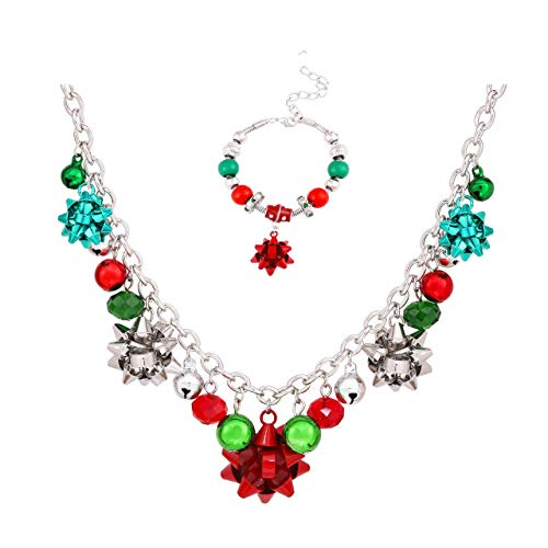 Christmas Jewelry.Vujantiry Christmas Necklace For Women Beaded Collar Necklace X Mas Jewelry For Women Choker Necklace With Christmas Tree Pendant Festive Accessories