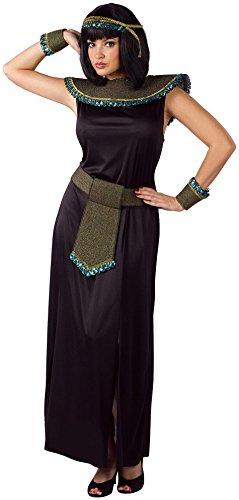 FunWorld Midnight Cleopatra, Black, One Size Costume