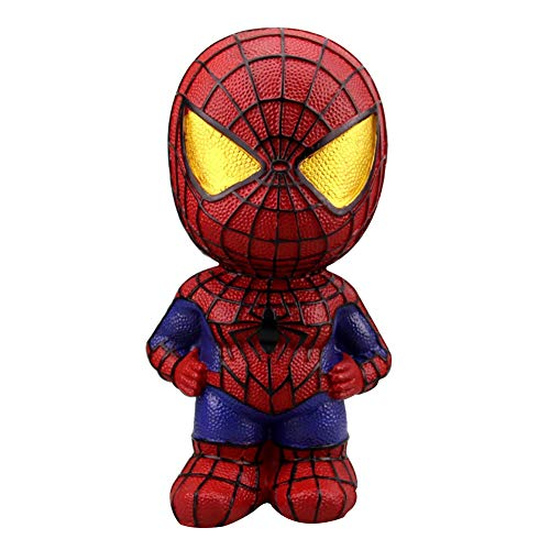 Superhero Piggy Money Box Spider-Man Batman Iron Man Captain America Coin Bank for Kids Children Birthday with Box (Spider-Man)