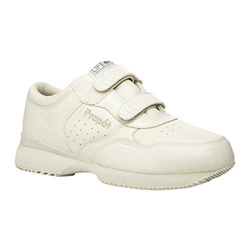 Propet Men's Life Walker Strap Shoes Sport White 9.5 W (Wide)