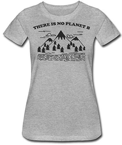 Is Beautiful Mountainside No There Prints View Da Maglietta Donna B Finest Planet Grigio EfqF0x