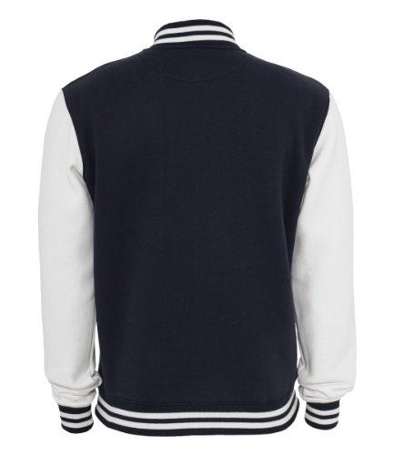 Urban Classics 2-tone College Sweatjacket, Größe:XL, Farbe:nvy/wht