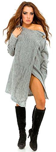 Glamour Empire Para Mujer. Abrigo Chaqueta cascada Cárdigan con caída. 411 Gris