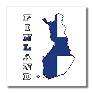 ht_58800_1 777images Flags and Maps - The flag of Finland in the outline map of the country and name, Finland - Iron on Heat Transfers - 8x8 Iron on Heat Transfer for White Material